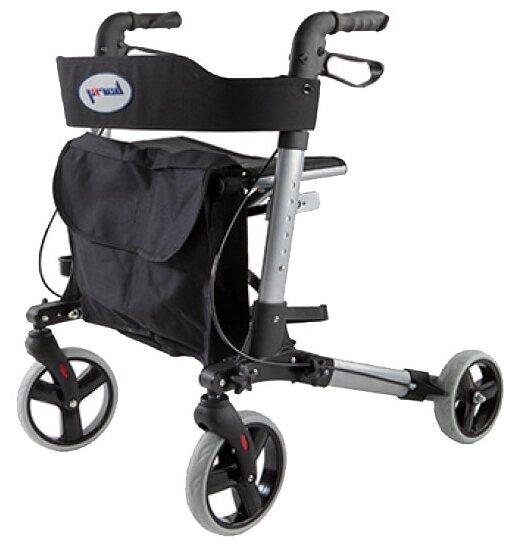 Опоры-ходунки на колесах Smart Barry ролятор с сиденьем и сумкой, ручные тормоза и регулировкой высоты 80-92см, до 114кг