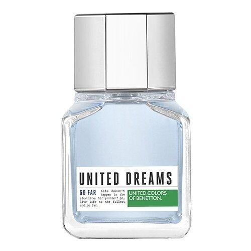 Туалетная вода UNITED COLORS OF BENETTON United Dreams Men Go Far, 60 мл платье для девочки united colors of benetton цвет голубой 4ig25vbq0 78w размер m 130
