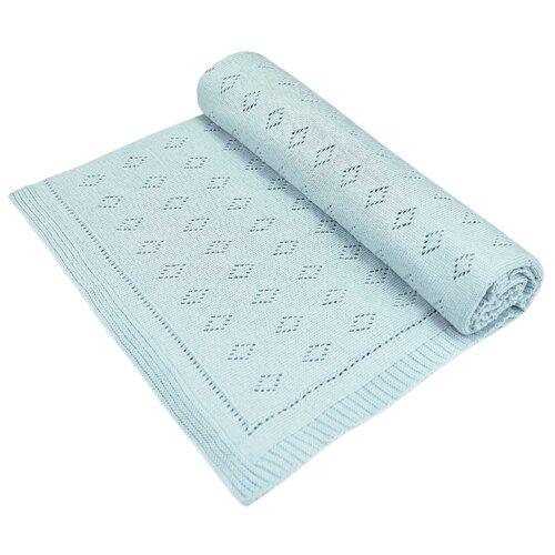 Купить Плед LEO Ромбики 100x95 голубой, Покрывала, подушки, одеяла