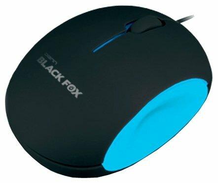 Мышь DENN DOM710BS Black-Blue USB