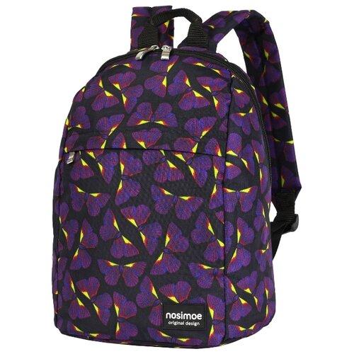 Рюкзак Nosimoe 008-01D бабочки фиолетово-желтый