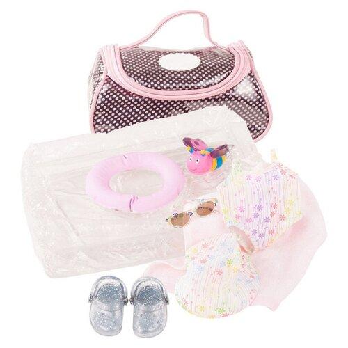 Купить Gotz Набор для купания Splish Splash для кукол 30-33 см 3402833 розовый/серебристый/коричневый, Одежда для кукол