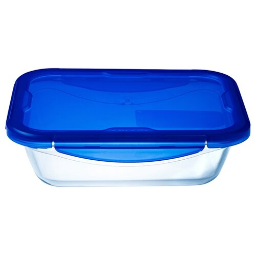 Форма для выпечки стеклянная Pyrex 282PG00ST (25х19 см) прозрачный/синий форма для выпечки pyrex