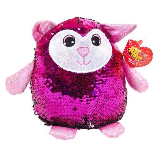 Купить Мягкая игрушка ABtoys Овечка с пайетками 20 см, Мягкие игрушки