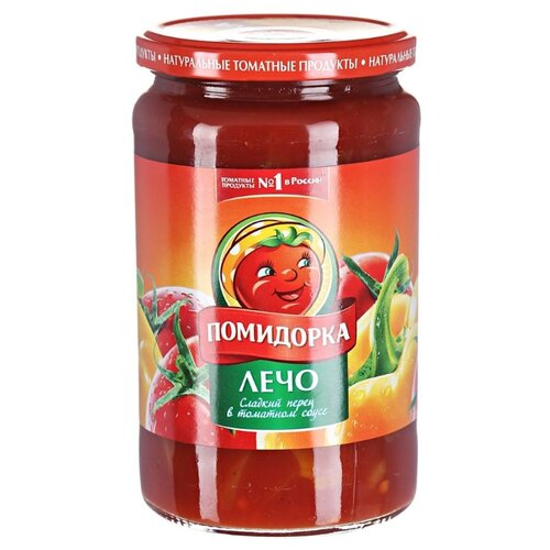 Лечо Сладкий перец в томатном соусе Помидорка стеклянная банка 680 гОвощи консервированные<br>