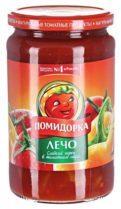 Лечо Сладкий перец в томатном соусе Помидорка стеклянная банка 680 г
