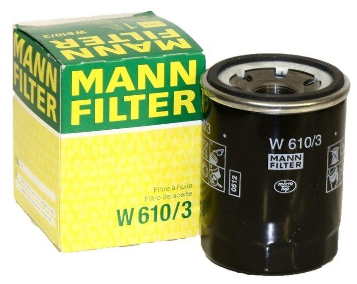 Масляный фильтр MANNFILTER W610/3