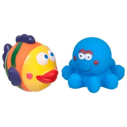 Купить Набор для ванной BONDIBON Рыбка, осьминог (ВВ1732) голубой/оранжевый, Игрушки для ванной