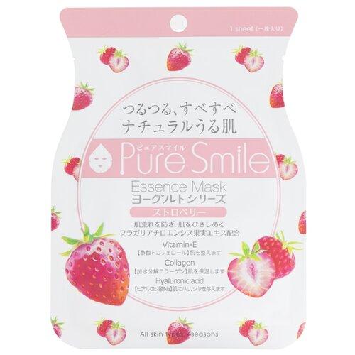 Sun Smile тканевая маска Pure smile Yogurt на йогуртовой основе с экстрактом клубники, 23 мл sun smile тканевая маска yogurt mask увлажняющая с экстрактом отрубей 23 мл