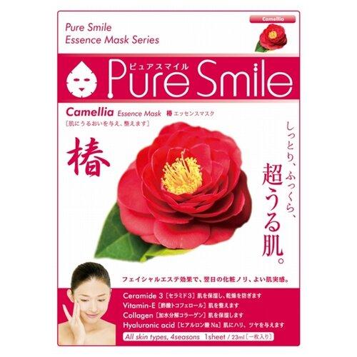 Sun Smile тканевая маска Pure Smile Camellia Essence с экстрактом цветов камелии, 23 мл чайник smile wk5209
