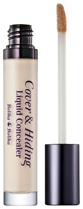 Holika Holika Консилер Cover & Hiding Liquid Concealer, оттенок 01, Light Beige