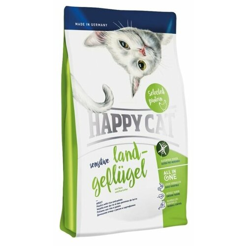 Корм для кошек Happy Cat Sensitive домашняя птица 4 кг