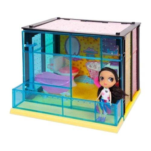 Купить ABtoys Модный дом PT-00849, розовый/желтый/голубой, Кукольные домики