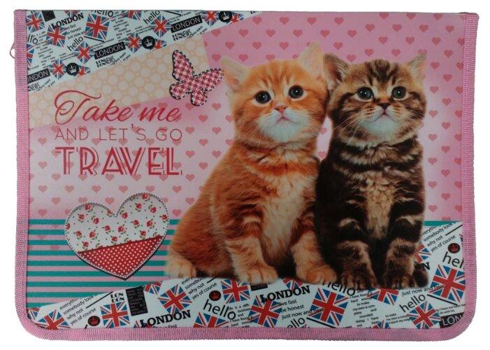 Prof-Press Папка для труда А4 Два милых котенка