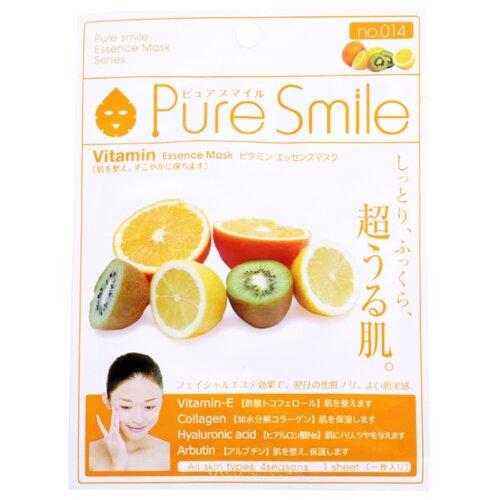 Sun Smile тканевая маска Pure smile Vitamin Essence с витаминным комплексом, 23 мл sun smile тканевая маска pure smile green tea essence с экстрактом зеленого чая 23 мл