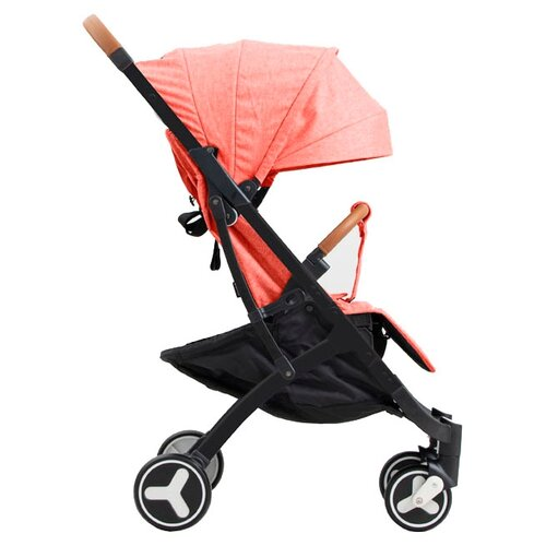 Прогулочная коляска Yoya Plus 3 (дожд., москит., подстак., бампер, сумка-чехол, бамбук. коврик, корзина д/пок, ремешок на руку, накидка на ножки) red/black frame, цвет шасси: черный