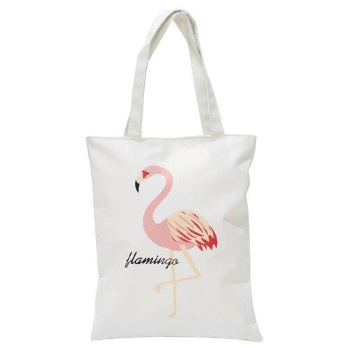 Сумка тоут Kingth Goldn C188, текстиль, фламинго/розовый/белый сумка тоут kingth goldn c187 3 4 7 8 9 текстиль