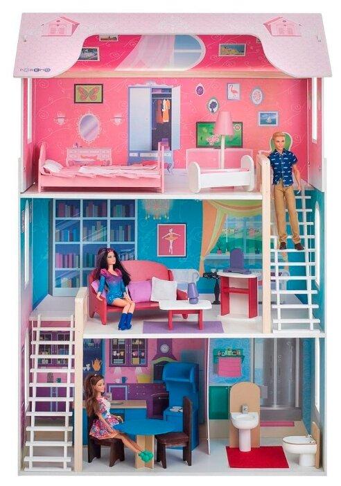 """Купить PAREMO кукольный домик """"Вдохновение"""" PD315, розовый по низкой цене с доставкой из Яндекс.Маркета"""