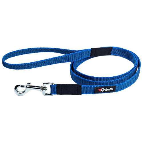 Поводок для собак Gripalle прорезиненный, стальная фурнитура синий 1.5 м 18 ммПоводки для собак<br>