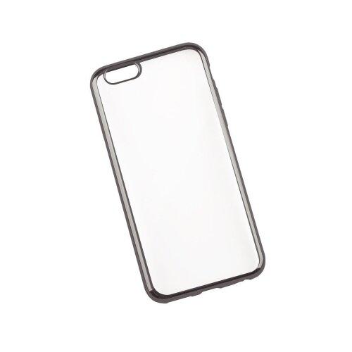 Чехол Liberty Project TPU прозрачный с хром рамкой для Apple iPhone 6/6s прозрачный/черныйЧехлы<br>