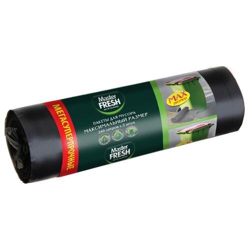 Мешки для мусора Master FRESH С0006267 240 л, 5 шт., черный