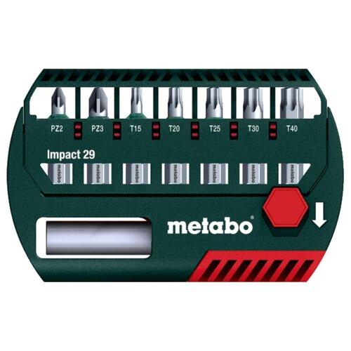 Набор бит Metabo Impact 29, 8 предм., зеленый набор бит metabo 626711000 25 предм