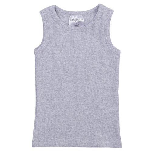 Купить Майка playToday размер 128, серый, Белье и пляжная мода