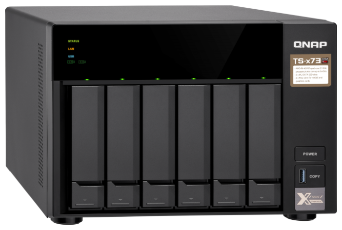 СХД QNAP настольное исполнение 6BAY 4GB TS-673-4G