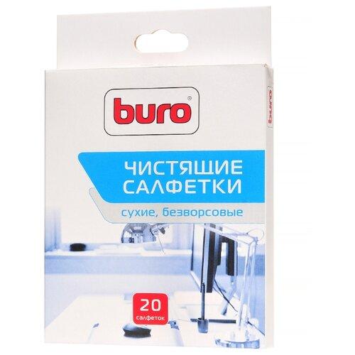 Фото - Buro BU-Udry сухие салфетки 20 шт. для оргтехники, для оптики чистящее средство buro bu smark для очистки маркерных досок 250мл