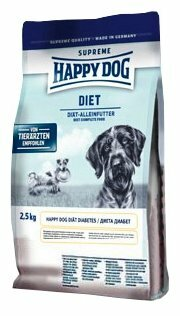 Корм для собак Happy Dog Diet при сахарном диабете, при избыточном весе 2.5 кг
