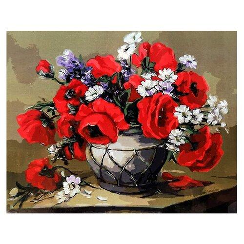 Купить Paintboy Картина по номерам Чарующие маки 40х50 см (GX3300), Картины по номерам и контурам