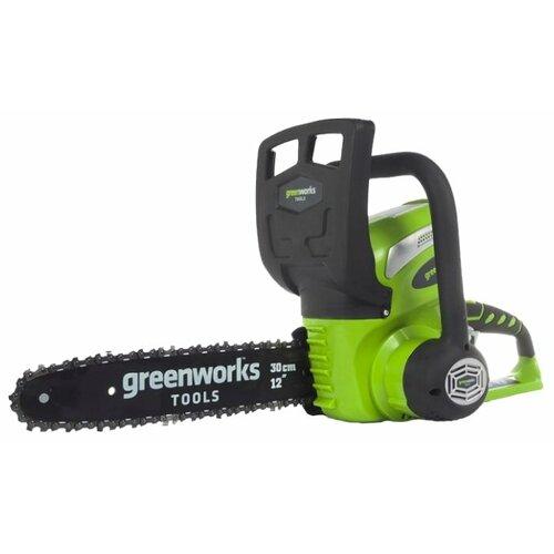 цена на Цепная электрическая пила greenworks G40CS30 2.0Ah x1