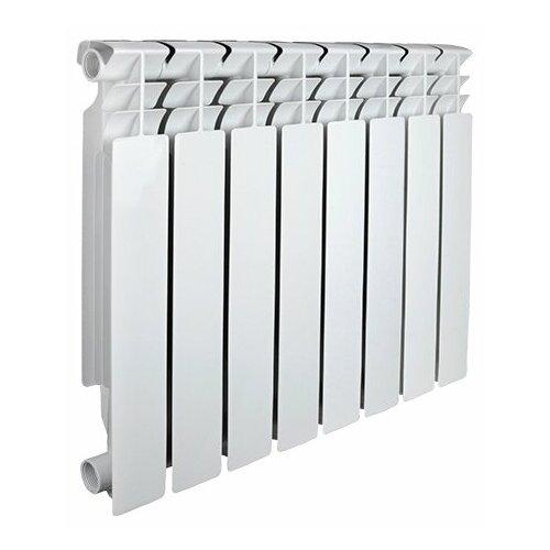 Радиатор секционный алюминий Valfex OPTIMA ALU 500 x8 подключение боковое правое белый биметаллический радиатор rifar рифар b 500 нп 10 сек лев кол во секций 10 мощность вт 2040 подключение левое