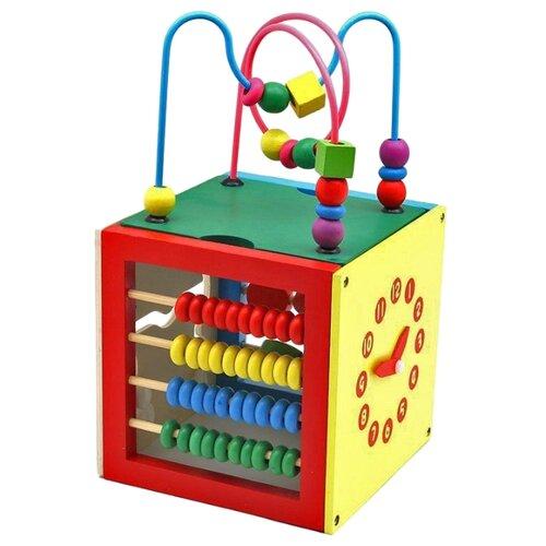 Развивающая игрушка РИД куб Развивайка желтый/зеленый/красный/голубой