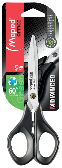 Ножницы AdvanceD Green, 17 см, симметричные