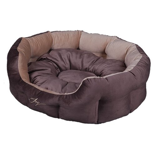 Лежак для собак Joy (2КУВ00149/2КУВ00155/2КУВ00177) 50х40х20 см коричневый/светло-коричневый