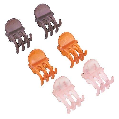 Краб Magie Accessoires 942022 6 шт. розовый/оранжевый/бордовыйЗаколки<br>