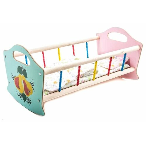 деревянные игрушки Владимир (Деревянные игрушки) Кроватка для кукол большая (СУС3)