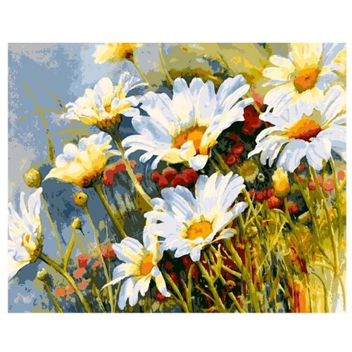 Купить Paintboy Картина по номерам Ромашки 40х50 см (GX7077), Картины по номерам и контурам