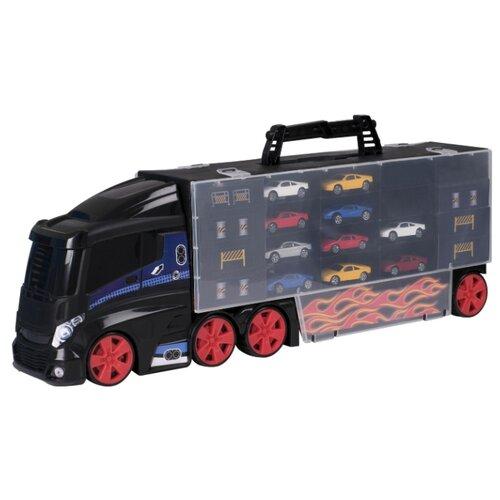 Купить Игровой набор для детей Teamsterz «Автоперевозчик с 10 машинками», HTI, Детские парковки и гаражи