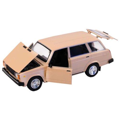 Легковой автомобиль Автопанорама Мировые легенды ВАЗ 2104 1:24 бежевый легковой автомобиль автопанорама мировые легенды ваз 2104 1 24 бежевый