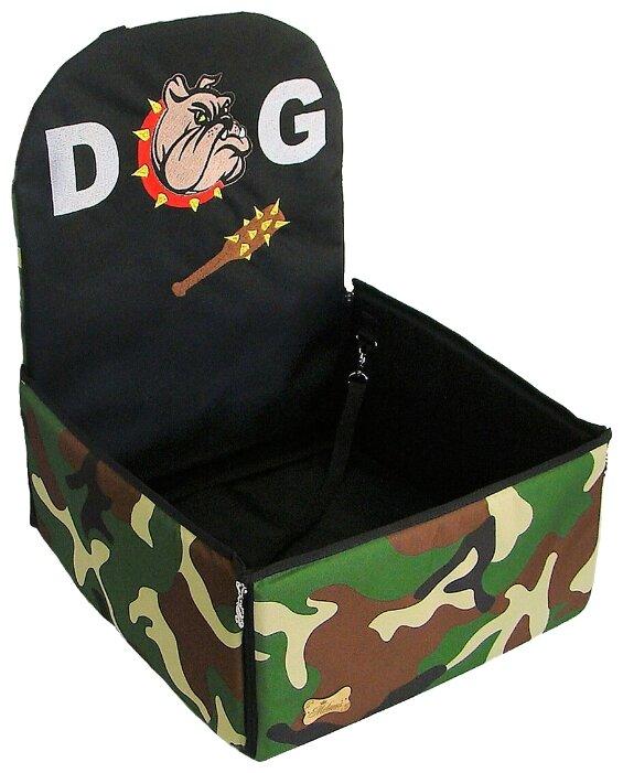 Автогамак для собак Melenni Стандарт Злой бульдог 4 45х45х57 см