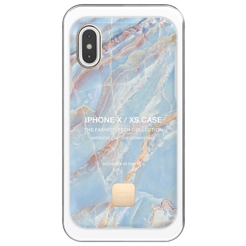 цена на Чехол Happy Plugs 9333 для Apple iPhone X/Xs blue quartz