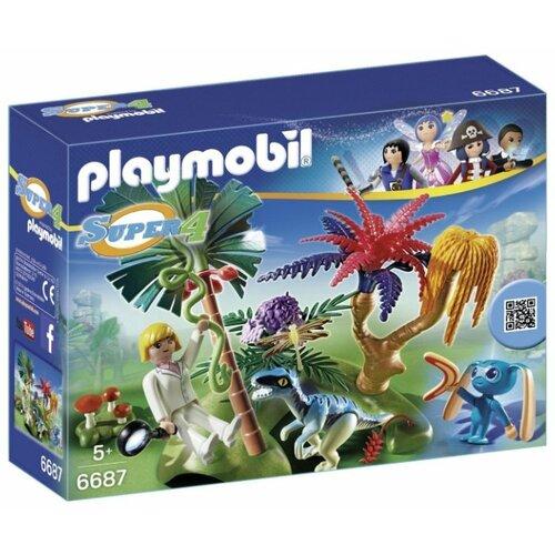 Купить Набор с элементами конструктора Playmobil Super 4 6687 Затерянный остров, Конструкторы