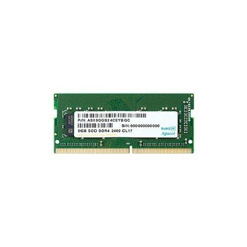 Купить Оперативная память Apacer DDR4 2400 (PC 19200) SODIMM 260 pin, 8 ГБ 1 шт. 1.2 В, CL 17, ES.08G2T.GFH