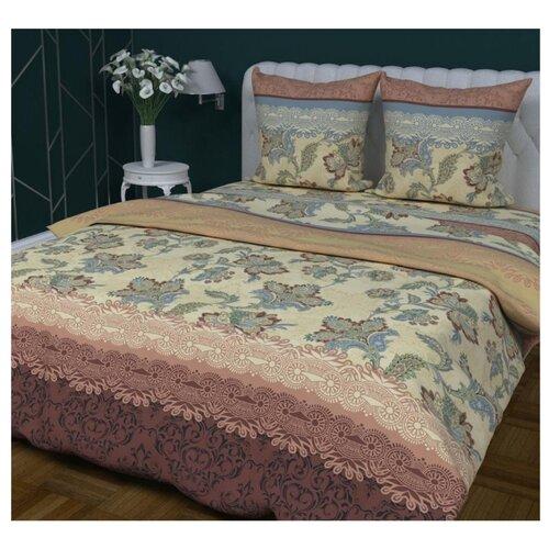 Постельное белье 1.5-спальное Мирослава Азалия 70 x 70 бязь коричневыйКомплекты<br>