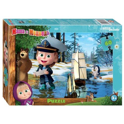Купить Пазл Step puzzle Анимаккорд Маша и Медведь (81177), элементов: 60 шт., Пазлы