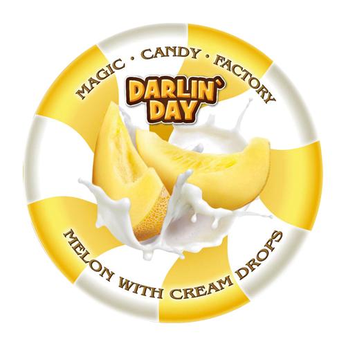 Карамель леденцовая DARLIN'DAY молочная со вкусом дыни и сливок 180 г малвикъ мини м сливочное ассорти леденцовая карамель 150 г