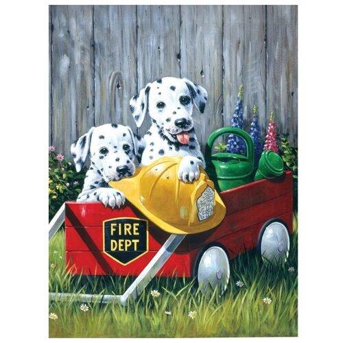 Купить Royal & Langnickel Картина по номерам Пожарная команда 22х29 см (PJS 46), Картины по номерам и контурам