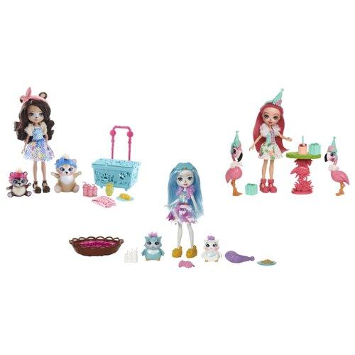 Набор с куклой Enchantimals с двумя зверюшками, 15 см, FCC62